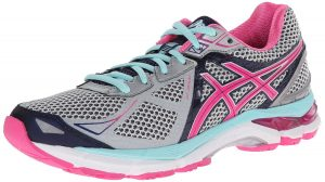 ASICS Women's GT-2000 3 Trail Running Shoe Lightning/Hot Pink/Navy 8 B - Medium